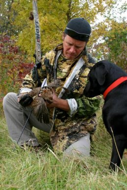 The prize when bowhunting grouse
