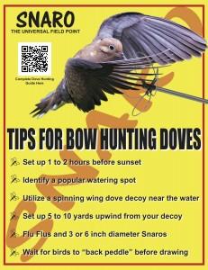 Snaro Bowhunting Doves